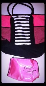 Victoria's Secret Tote Bag & Makeup Bag